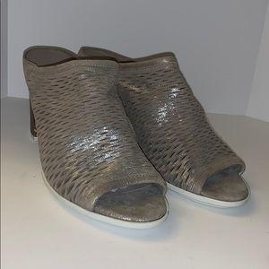 Paul green silver pump sandals woman's 9.5